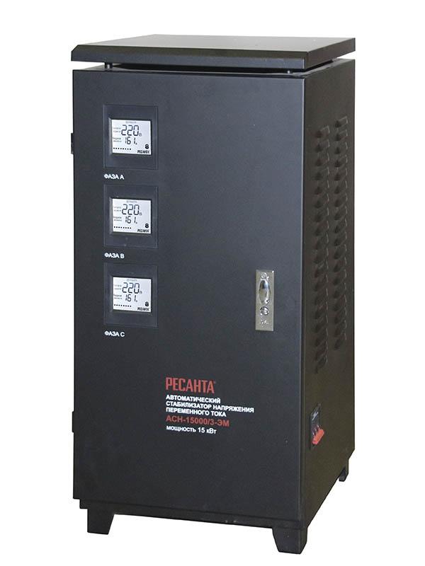 Стабилизатор трехфазный АСН-15000/3-ЭМ Ресанта